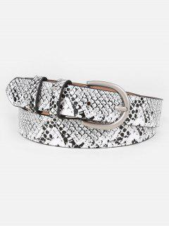 Simple Snake Pattern Artificial Waist Belt - Gray