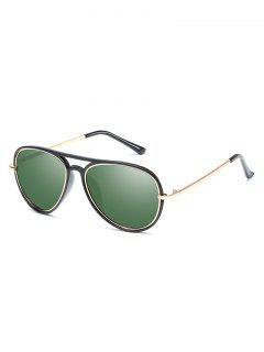 UV Protection Crossbar Pilot Sunglasses - Dark Green