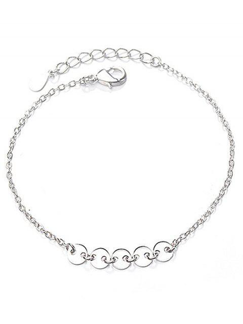 fancy Geometric Circle Shape Bracelet - SILVER  Mobile