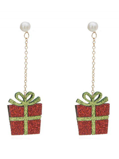 chic Christmas Gift Pattern Artificial Pearl Earrings - MULTI-A  Mobile