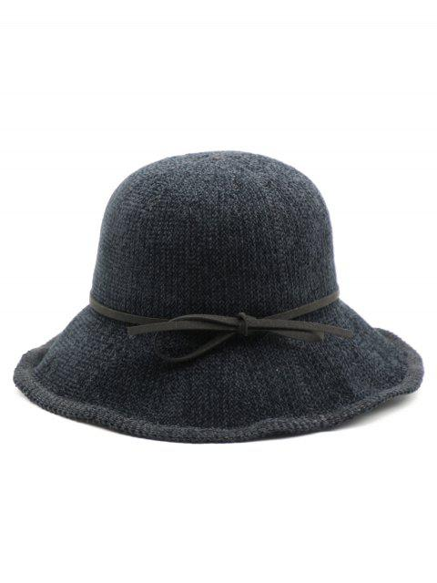 best Bowknot Solid Color Holiday Hat - BLACK  Mobile