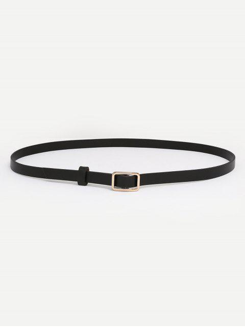sale Metal Buckle Skinny Dress Belt - BLACK  Mobile