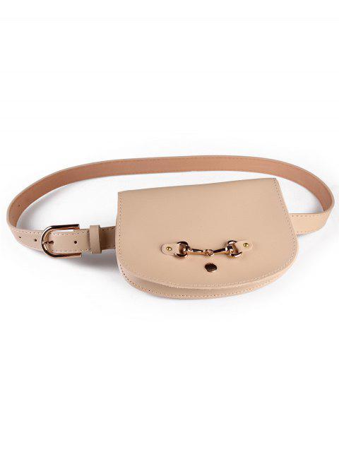 women Retro Pin Buckle Fanny Pack Belt Bag - APRICOT  Mobile
