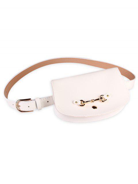 online Retro Pin Buckle Fanny Pack Belt Bag - WHITE  Mobile