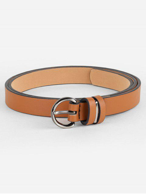 outfits Simple Artificial Leather Skinny Waist Belt - CAMEL BROWN  Mobile