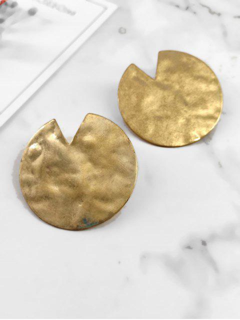 shop Geometric Shape Irregular Metal Earrings - GOLD  Mobile