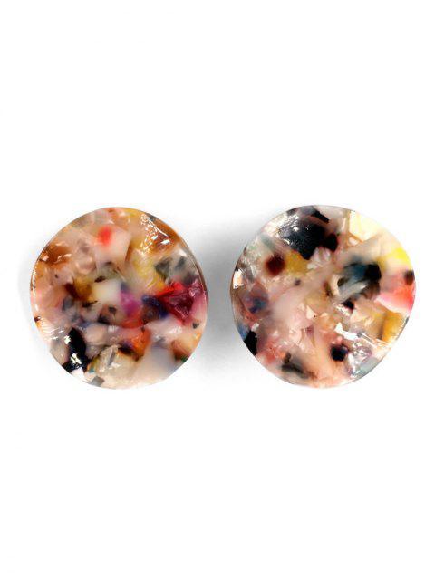 shops Irregular Pattern Stud Earrings - MULTI-A  Mobile