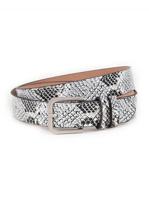 online Vintage Snake Pattern Embellished Skinny Belt - GRAY  Mobile