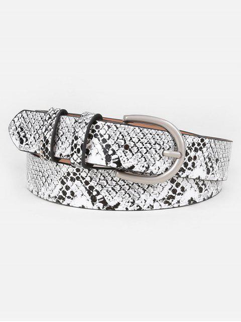 unique Simple Snake Pattern Artificial Waist Belt - GRAY  Mobile