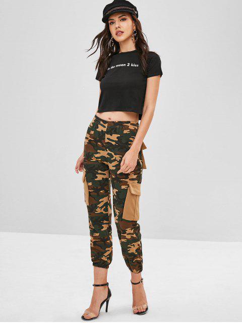 women's Camo Pockets Jogger Pants - ACU CAMOUFLAGE L Mobile
