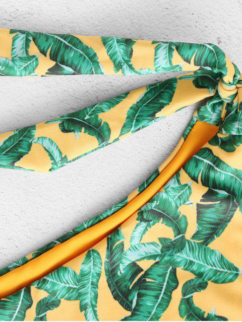 affordable ZAFUL Reversible Palm Knotted Bikini Set - MULTI-A S Mobile