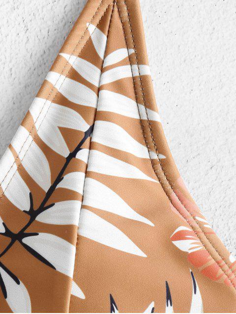 Bañador ZAFUL con estampado floral de criss cross - Canela S Mobile