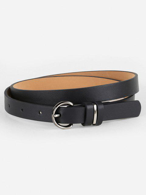 fancy Simple Artificial Leather Skinny Waist Belt - BLACK  Mobile