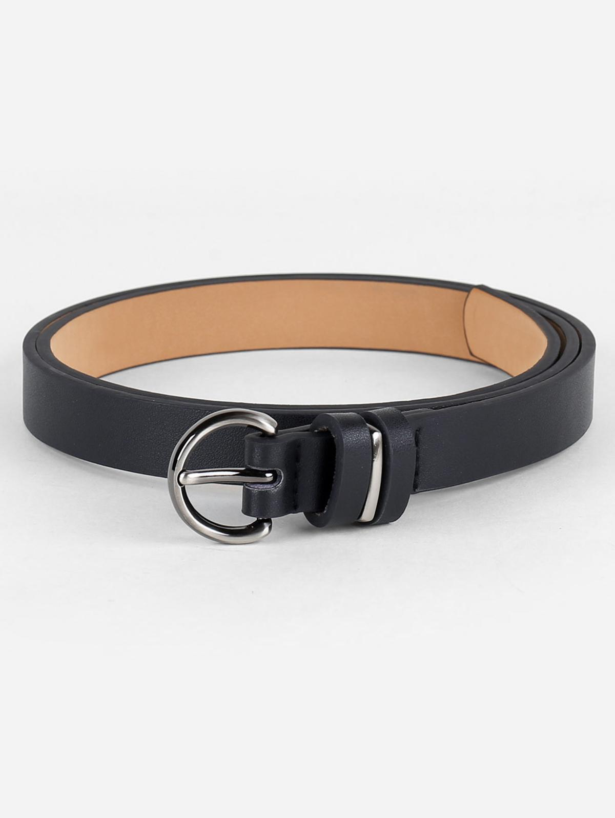 Simple Artificial Leather Skinny Waist Belt thumbnail