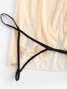 minorista online abd0b 3e91c Vestido de lencería con abertura delantera de encaje