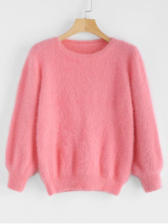 unique Cosy Fluffy Sweater - WATERMELON PINK ONE SIZE