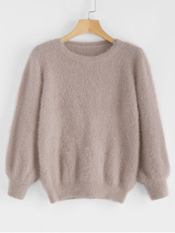 Sale Cosy Fluffy Sweater   Khaki by Zaful