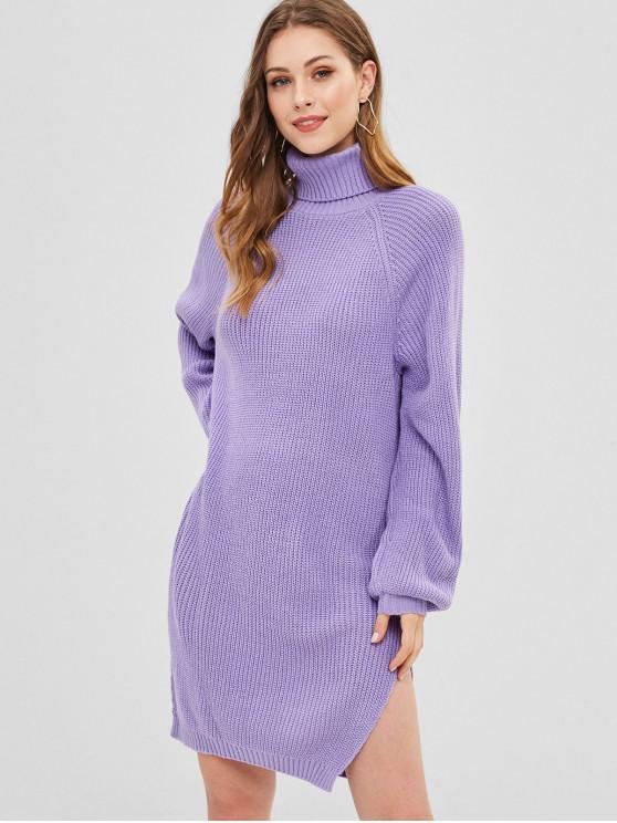 51b9afb295 31% OFF  2019 Side Slit Turtleneck Sweater Dress In MAUVE
