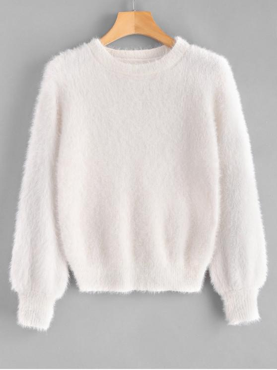 fancy Cosy Fluffy Sweater - WARM WHITE ONE SIZE