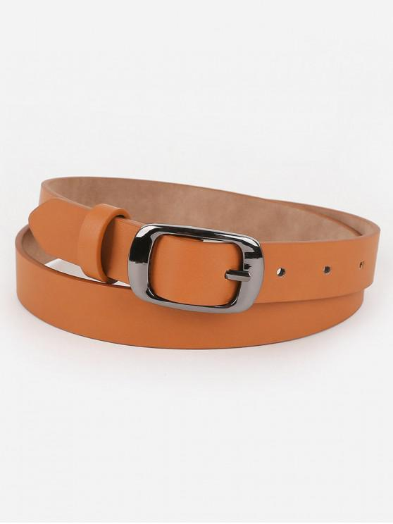 best Metal Buckle Artificial Leather Belt - TIGER ORANGE