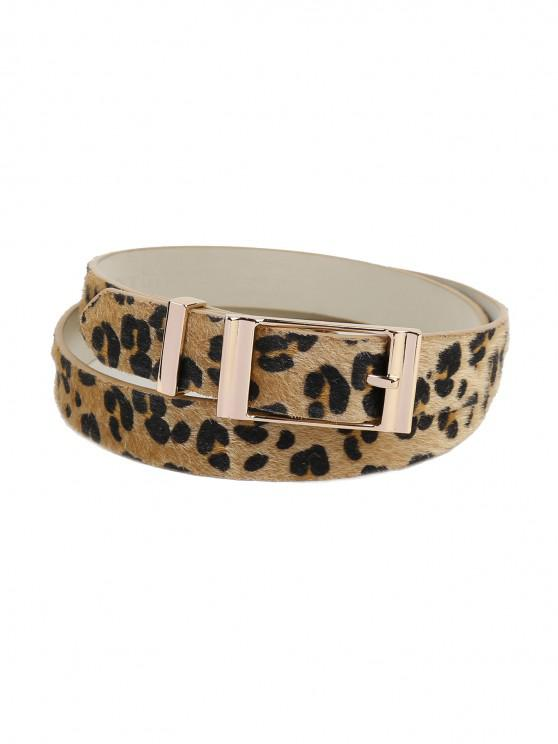 hot Leopard Printing Metal Buckle Dress Belt - LEOPARD