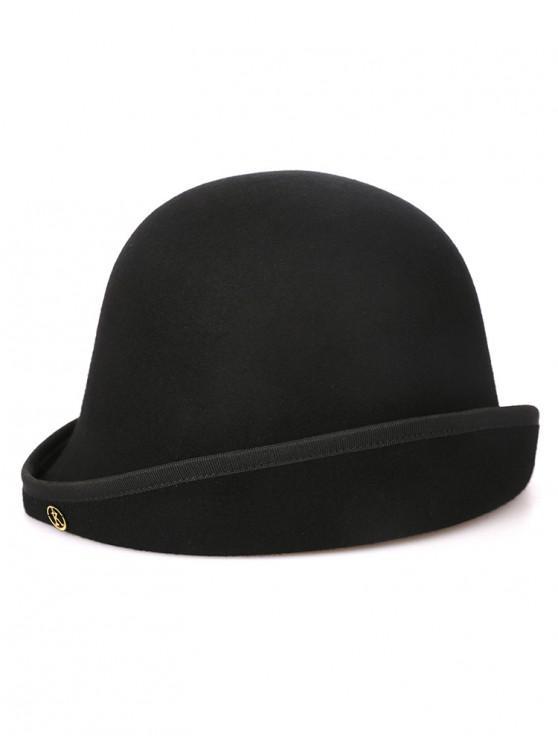 Letter K Decorative Elegant Hat - أسود