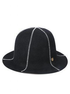 Vintage Z Embroidery Bucket Hat - Black