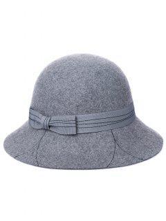 Sombrero Del Cubo Del Bowknot De La Letra K Del Vintage - Gris De Acorazado