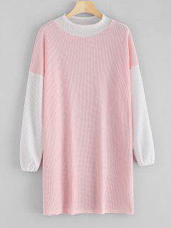 Zweifarbiges, Gestreiftes Kleid - Sakura Rosa L