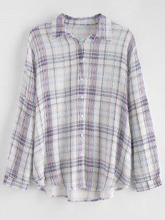 Chemise à Carreaux à Grande Taille - Multi 3x