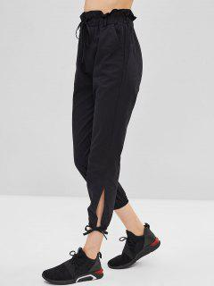 Slit Tie Pants - Black Xl