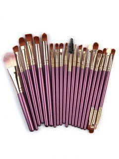 High Quality 20 PCS Wood Handle Makeup Brush Set - Purple Iris