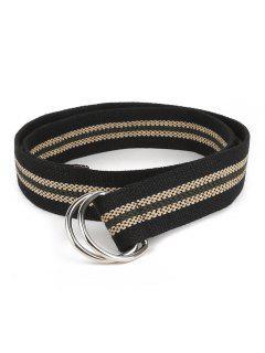 Casual Adjustable Canvas Waist Belt - Black