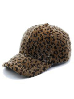 Vintage Leopard Print Graphic Hat - Brown