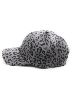 Vintage Leopard Print Graphic Hat - Gray