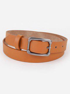 Simple Metal Buckle Skinny Waist Belt - Cinnamon