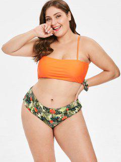 ZAFUL Bikini Fleur De Grande Taille Avec Bandeau - Multi-a 3x
