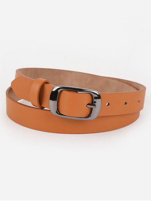 best Metal Buckle Artificial Leather Belt - TIGER ORANGE  Mobile
