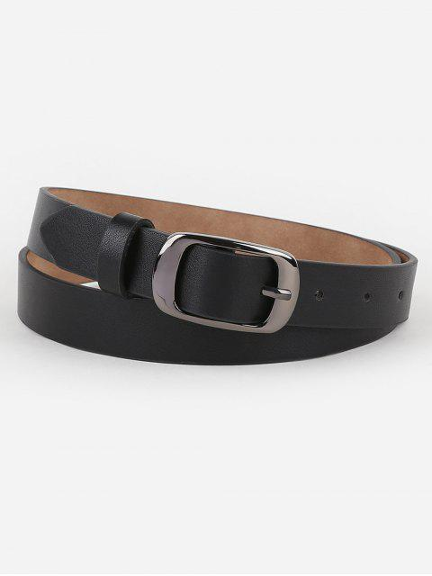 online Metal Buckle Artificial Leather Belt - BLACK  Mobile