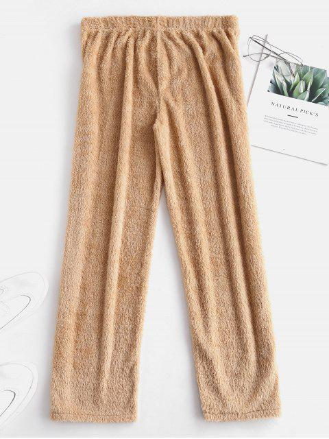 outfits Faux Fur Cpari Pants - BLANCHED ALMOND S Mobile