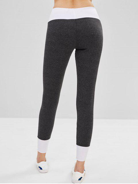 chic Lace-up Ponte Pants - DARK GRAY M Mobile