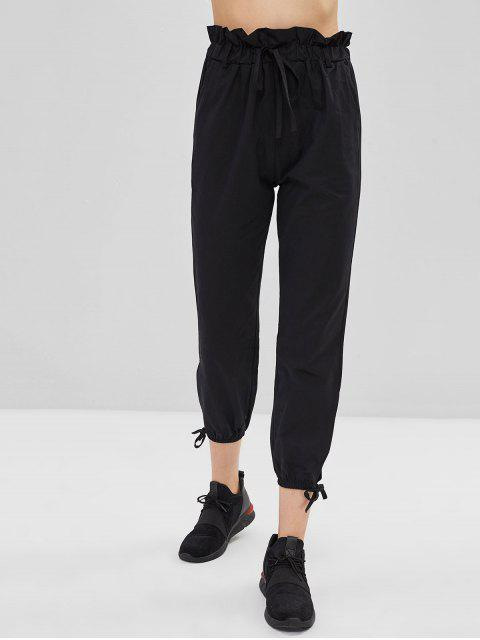 latest Slit Tie Pants - BLACK XL Mobile