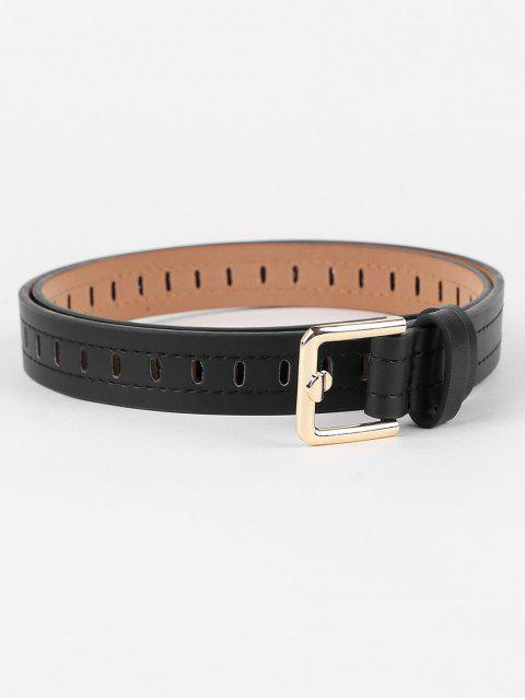 shops Line Embroidery Hollow Out Waist Belt - BLACK  Mobile
