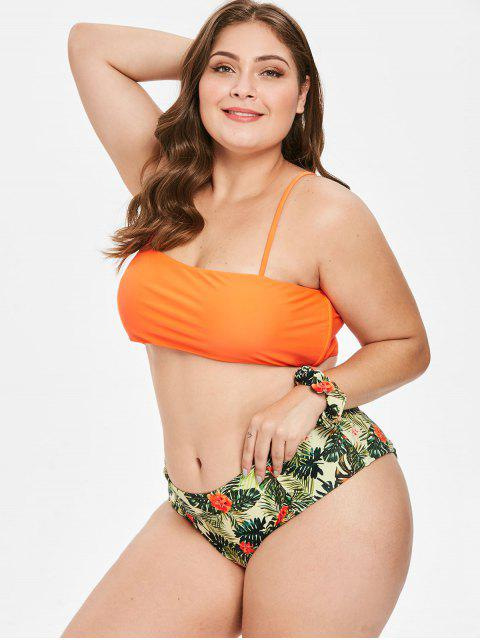 ZAFUL Bikini Fleur de Grande Taille avec Bandeau - Multi-A 3X Mobile