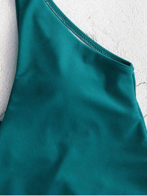 ZAFUL Maillot de Bain Enveloppé Noué à Côté Une-Pièce - Bleu Verdâtre M Mobile