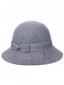 خمر حرف K BOWKNOT دلو قبعة - سفينة حربية رمادية