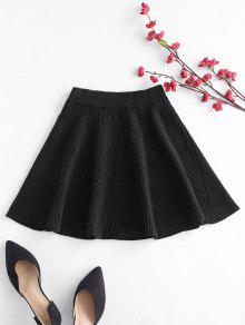 التنورة الصلبة اللون - أسود