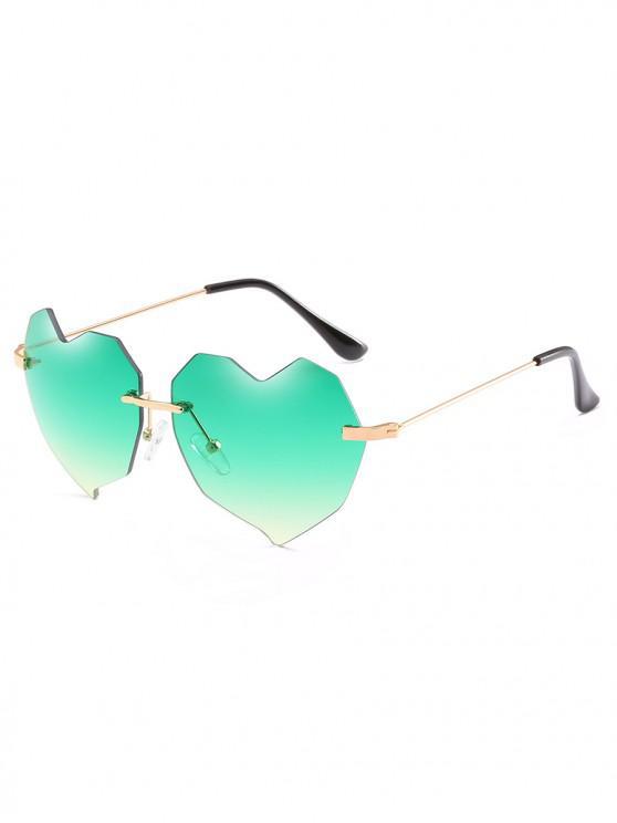 8df6f09eb4 14% OFF  2019 Novelty Irregular Heart Lens Rimless Sunglasses In SEA ...