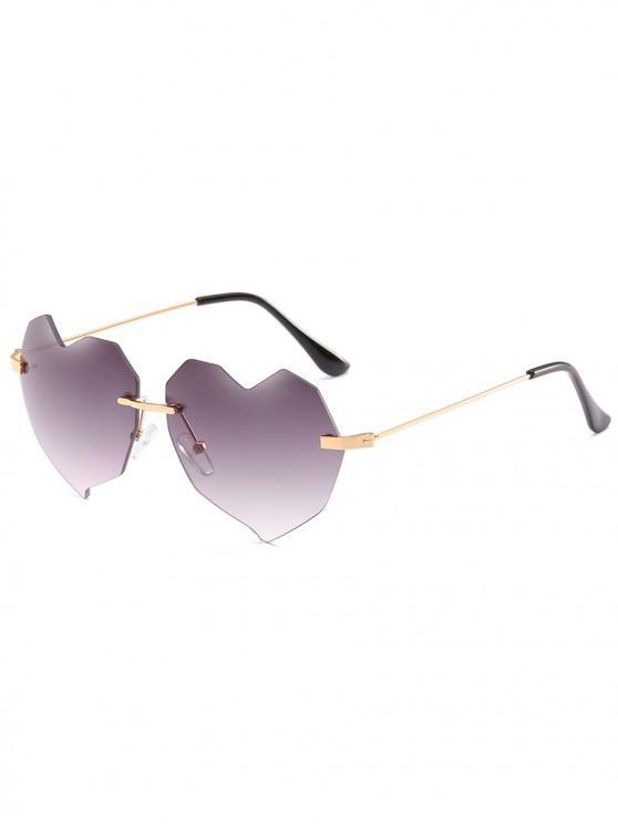 196731cfb9 14% OFF  2019 Novelty Irregular Heart Lens Rimless Sunglasses In ...