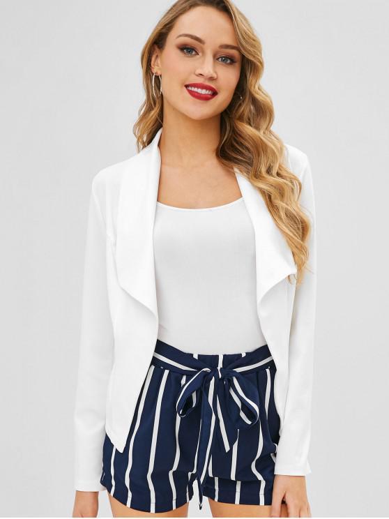 Breiter, weit geschnittener Revers-Blazer - Weiß XL